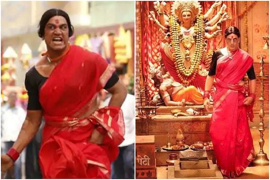 Actors Sharad Kelkar, Akshay Kumar acting as  transgender woman in Laxmii | Image credit: Twitter