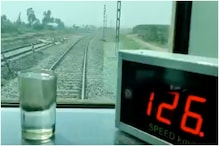 Indian Railways Show Off Maintained Tracks with Water Test to Demonstrate Smooth, Speedy Travel