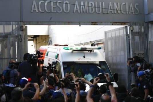 Diego Maradona leaves hospital (Photo Credit: Twitter)