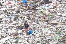 Watch: Man Walking on Garbage-filled River in Brazil Creates Buzz around Lack of Waste Management