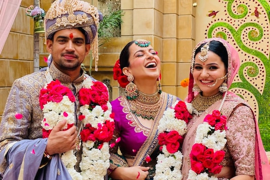 See All Stunning Photos from Kangana Ranaut's Brother's Royal Wedding in Udaipur