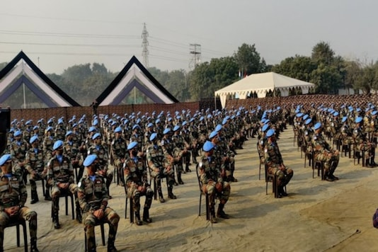 Indian UN peacekeeping troops ready to leave for S Sudan. (ANI)