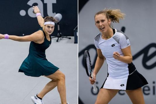 Aryna Sabalenka (L) and Elise Mertens (Photo Credit: WTA Twitter)