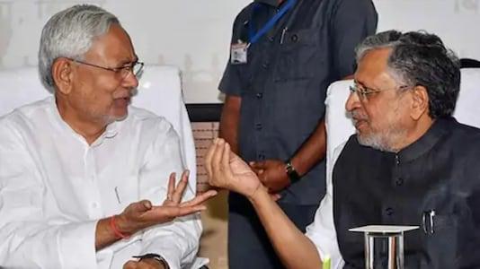 File photo of Nitish Kumar and Sushil Modi (PTI)