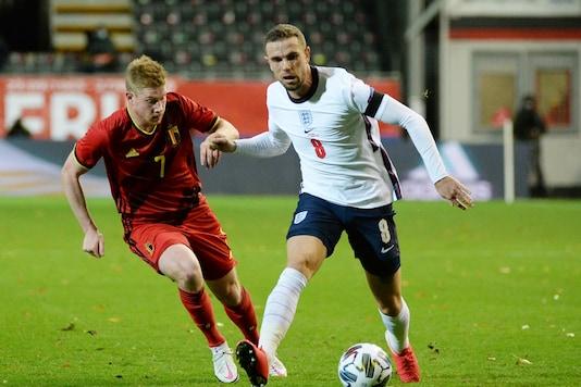 Jordan Henderson (R) got injured in England game. (Photo Credit: Reuters)