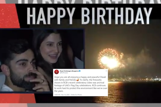 Snapshot from video tweeted by Royal Challengers Bangalore on Virat Kohli's birthday.