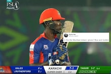 Karachi Kings Get Trolled as Sherfane Rutherford Spotted Wearing Mumbai Indians' Gloves in PSL