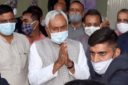 Janata Dal (United) President and Bihar Chief Minister Nitish Kumar arrives at party office, in Patna, Tuesday, Nov. 17, 2020. (PTI Photo)