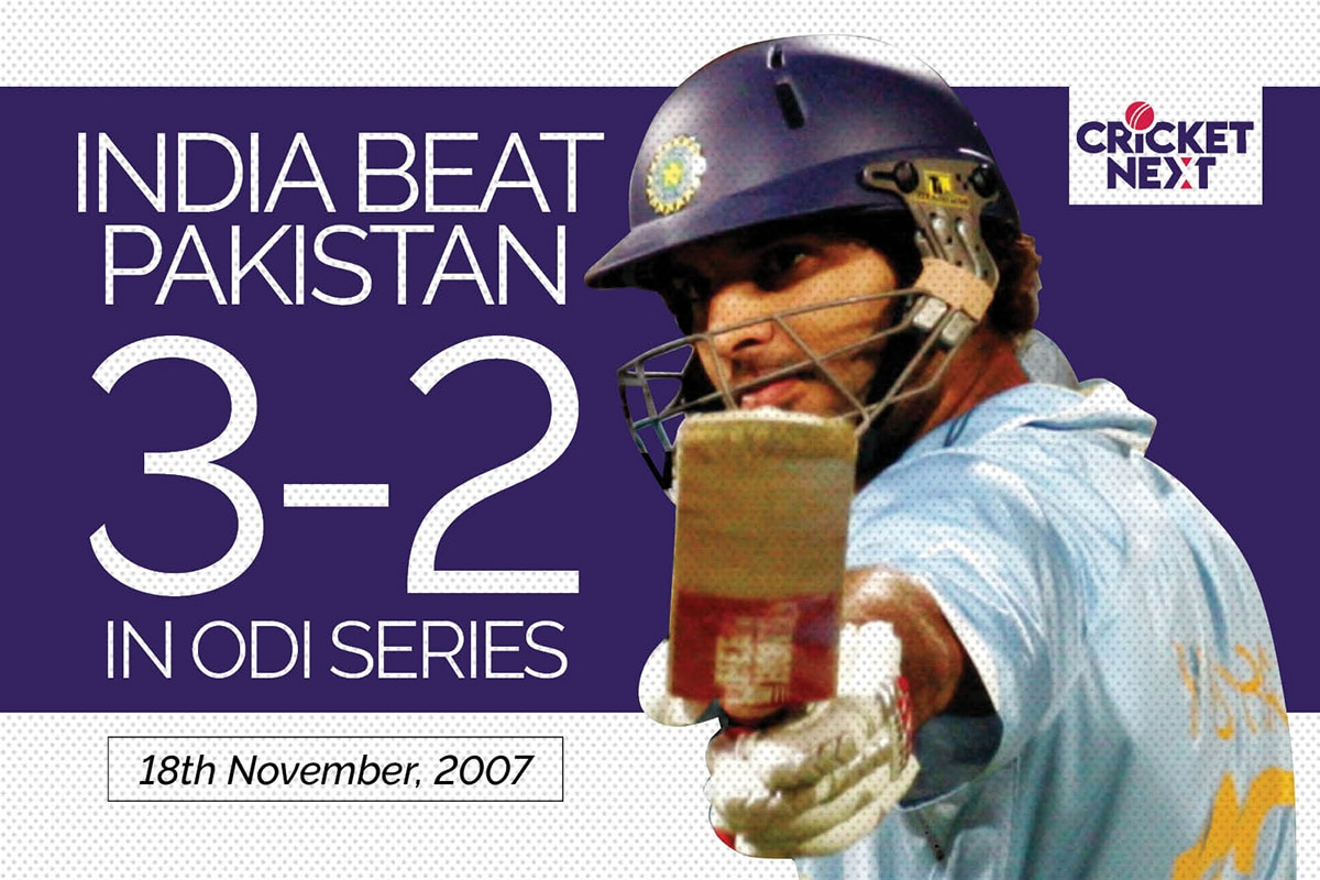 On This Day: 18th November, 2007 - MS Dhoni, Yuvraj Singh Lead India to ODI Series Win Against Pakistan