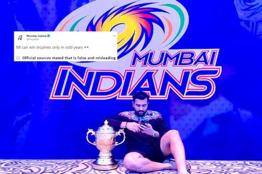 Photo tweeted by Mumbai Indians.