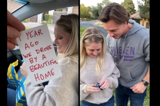 The man recently decided to surprise his better-half with her dream home. (Credit:Facebook)