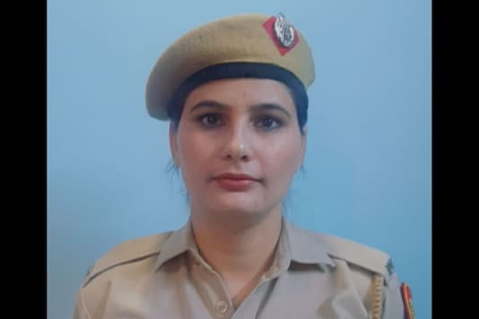 Delhi Police head constable Seema Dhaka who was promoted to Assistant Sub-inspector.