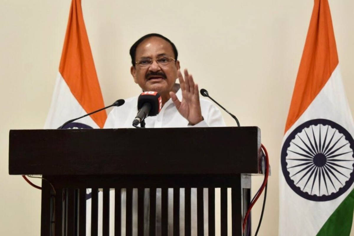 Vice-president Venkaiah Naidu speaks at the Jal Pratigya event organized virtually as part of Harpic – News18 Mission Paani campaign. The Jal Pratigya event hosted by News18 focused on water conservation and sustainable hygiene in the times of the Covid-19 pandemic. (Image: PTI)