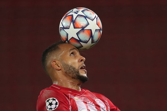 Youssef El Arabi is one of the Olympiakos players to have contracted Covid-19. (Photo Credit: Reuters)