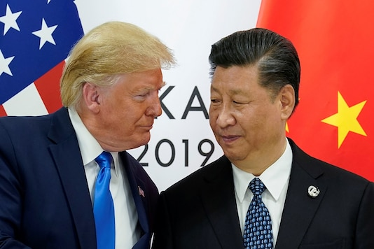 US President Donald Trump meets with China's President Xi Jinping at the start of their bilateral meeting at the G20 leaders summit in Osaka, Japan. (Reuters)
