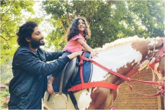 Allu Arjun and Arha enjoy horse ride