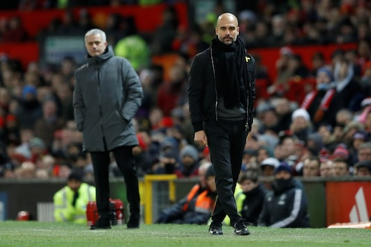 Pep Guardiola (R) and Jose Mourinho (Photo Credit: Reuters)