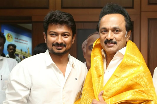 MK Stalin with son Udhayanidhi
