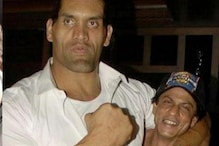 Shah Rukh Khan Looks Quite Cute in this Throwback Picture with The Great Khali