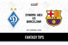 DYK vs BAR Dream11 Team Prediction UEFA Champions League Group G match, Dynamo Kiev vs Barcelona - Playing XI, Football