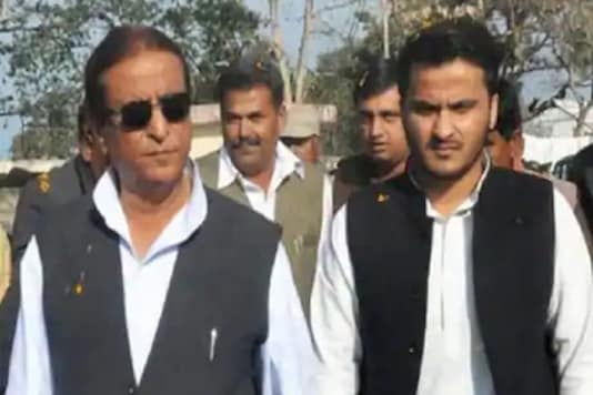 File photo of Samajwadi Party leader Azam Khan and his son Abdullah.