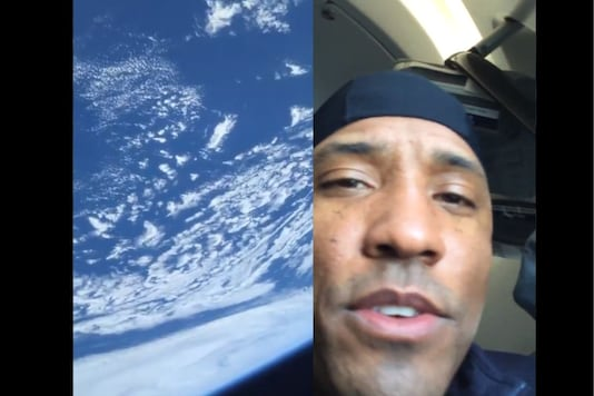 Glover shared his first video from space, looking at the Earth through the window of Dragon Resilience spacecraft. (Credit: Victor Glover/Twitter)