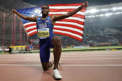 100-meter World Champion Coleman Appeals Doping Ban To CAS (Photo Credit: AP)