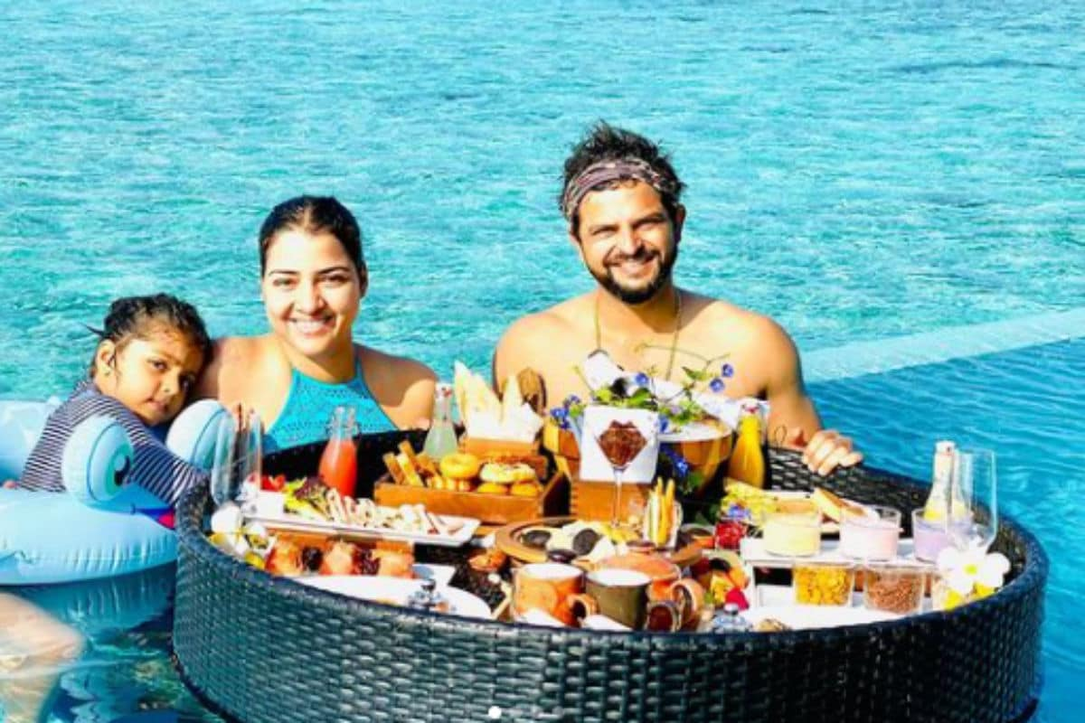 Suresh Raina Enjoys 34th Birthday with Family in Maldives ...
