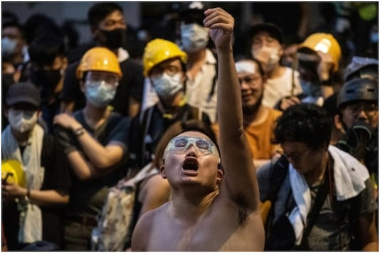 31-year-old Pun Ho-Chiu was sentenced to 21 months in prison for throwing eggs at a police station during pro-democracy protests in the Chinese territory last year | Image credit: AFP