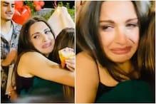 Tearful Himanshi Khurana Hugs Her Team and Friends as She Cuts Birthday Cake