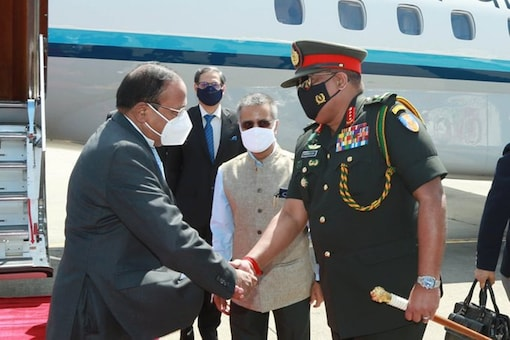 NSA Ajit Doval arrived in Colombo for trilateral India-Sri Lanka-Maldives consultations on maritime and security cooperation. (Image: Twitter/ANI)