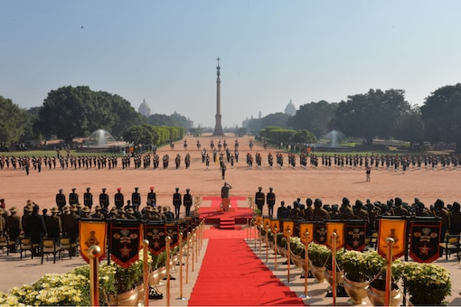 President Kovind witnessed the Ceremonial change-over of the Army Guard Battalion stationed at Rashtrapati Bhavan today.
