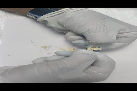 DRI Mumbai seized Heroin from buttons of a gown. (Image: News18)