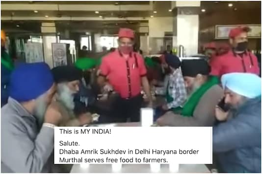Murthal dhaba serves food to farmers | Image credit: Facebook
