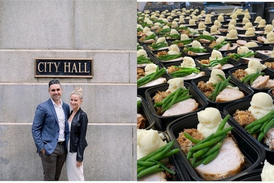 The couple donated their catering deposit of $5000 (Rs 3,69,675) to feed some 200 people on the occasion of Thanksgiving. (Photo: Thresholds Chicago/Instagram)