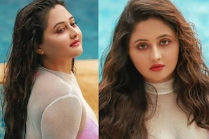 In Pics: Rashami Desai Poses in Pink Bikini Alongside Swimming Pool