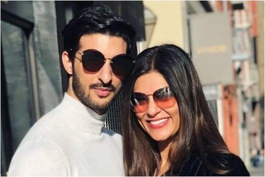 Rohman Shawl and Sushmita Sen