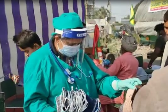 One of the two surgeons at the farmer protest site.
