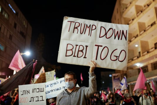 Israelis Protesting Netanyahu Welcome US Election Results