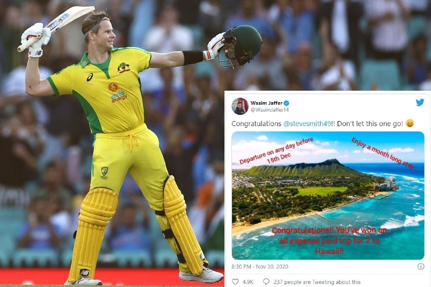 India vs Australia 2020: Wasim Jaffer Makes a Hilarious Offer to Steve Smith to Stop Him from Playing Against India