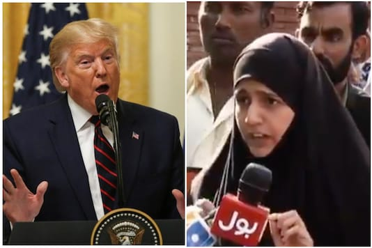 Old video of a Pakistani woman claiming to be Donald Trump's daughter has been going viral again | Image credit: Reuters/Twitter