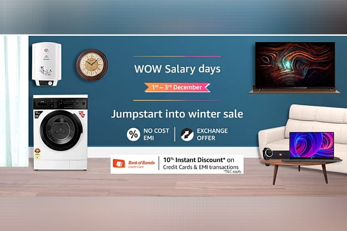 Amazon Wow Salary Days Sale Now Live in India: All Deals and Offers on Laptops, Smart TVs and More