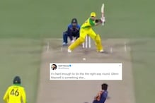 Glenn Maxwell's Ridiculous Reverse-sweep Six Against India Leaves Twitter Speechless