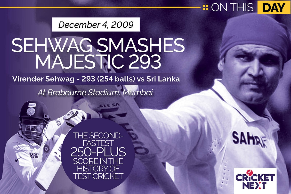 On This Day-December 4, 2009: Virender Sehwag Smashes Majestic 293