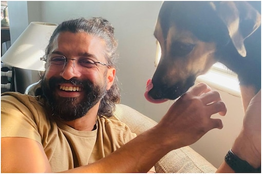 Farhan Akhtar Shares Adorable Pic with Pet Dog Jimmy, Shibani Dandekar Shows Love in Comments