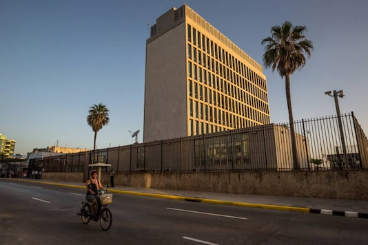 File photo of the American Embassy in Havana. (Meridith Kohut/The New York Times)