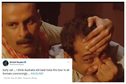 Wasim Jaffer Trolls Michael Vaughan With Hilarious Meme as India Clinch T20I series