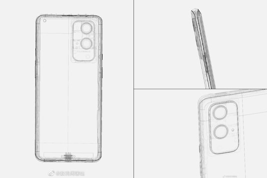 Leaked schematics of the OnePlus 9 Pro. (Image: Digital Chat Station/Twitter)