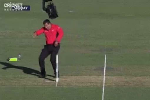 India vs Australia: Umpire Gerard Abood Bumps into Camera, Becomes Butt of Social Media Jokes