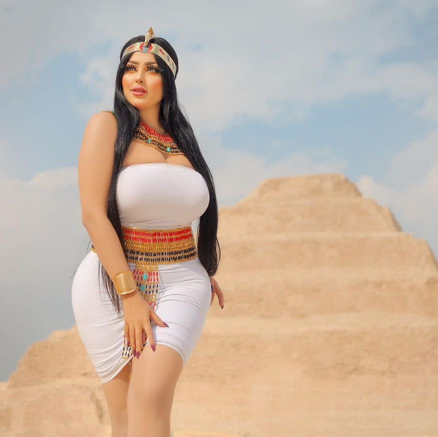 An Egyptian fashion model and Instagram influencer, Salma al-Shimi, was arrested and released on bail later.Egyptian authorities released a photographer and a model after they were detained following a photoshoot deemed inappropriate at the Pyramid of Djoser outside Cairo. (Image: Instagram)